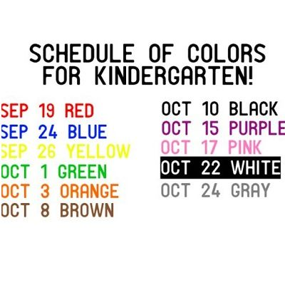Kindergarten Color Days!
